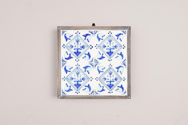 荷蘭手繪鬱金香花磚掛飾/代爾夫特/Delft/台夫特/歐洲老件/青花瓷
