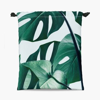Drawstring Pouch - 束口袋 - Monstera