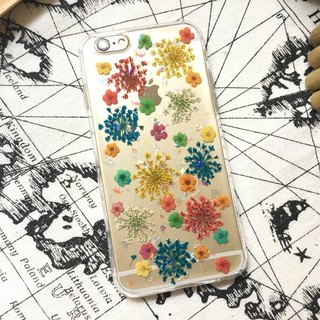 Fireworks party:: embossed mobile phone case pressed flower phonecase