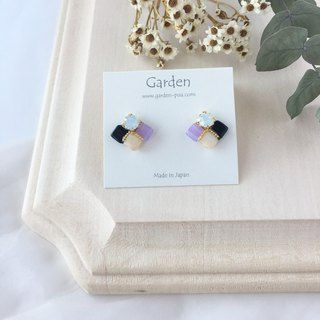 tile earrings Lavender
