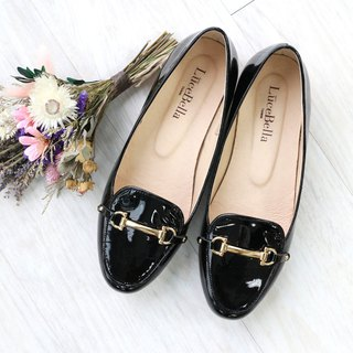 【Sha Sha jewelry box】 Patent leather flats _ glossy black