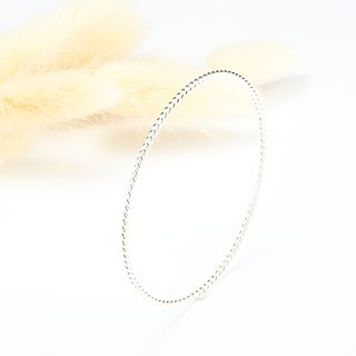 Twist simple s925 sterling silver bracelet Valentine's Day Gift