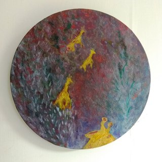 Walk _ acrylic painting _ small painting _ home decoration _