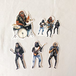 Ape Band Stickers (5 stickers)