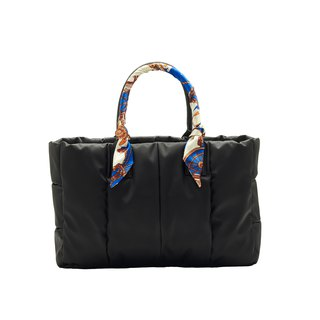 VOUS mother bag classic series foggy black + link city scarf