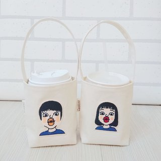 Eco Bag Coffee Beverage Bag Embroidery Demi Male/Female 2 In