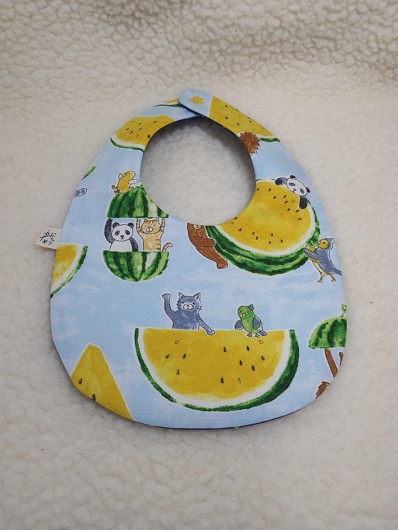 西瓜動物派對  飯糰兜/寶寶圍兜/口水巾