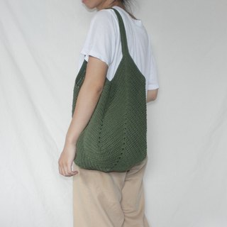Green Tote bag ,Market bag ,Crochet bag ,Shopping bag