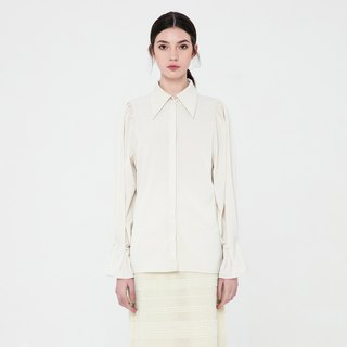 VACAE Pearl Decorative Long Sleeve Shirt