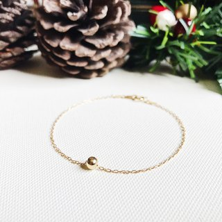 ::Golden Christmas :: Single Golden Ball Secret Bracelet (Gift Box)