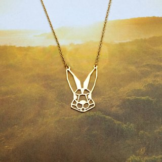 Rabbit Head, Origami Necklace, Animal Necklace, Rabbit Gifts, Gift for her