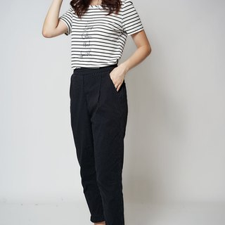 MIT textured little old slim pants (R5059C)