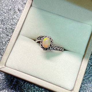 Opal Ring Made in Nepal 92.5% Silver
