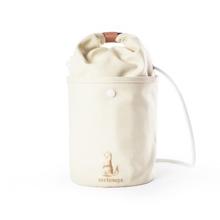 Arctomys EABA - waxed canvas bucket bag - Off White