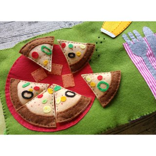 Handmade Quiet Book【Single】[E04] Pizza Party
