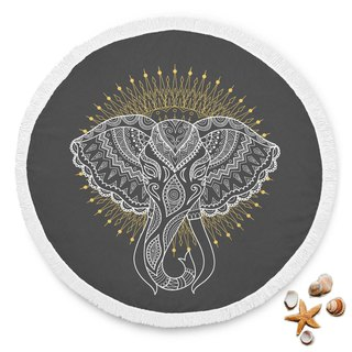 Elephant Design Beach Blanket