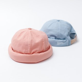 【ad-lib】Linen Miki Hat - Light Blue//Pink (AH098)