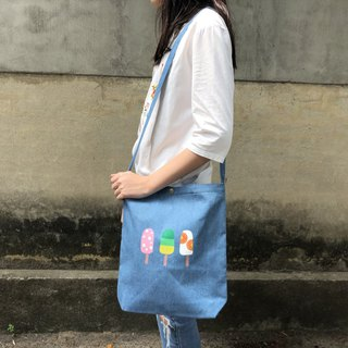 Fruit popsicles row station - three shoulders color shoulder bag
