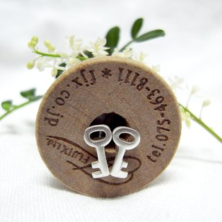 Tiny Key--Sterling Silver--Silver Key--Cute Key-- Stud Earrings