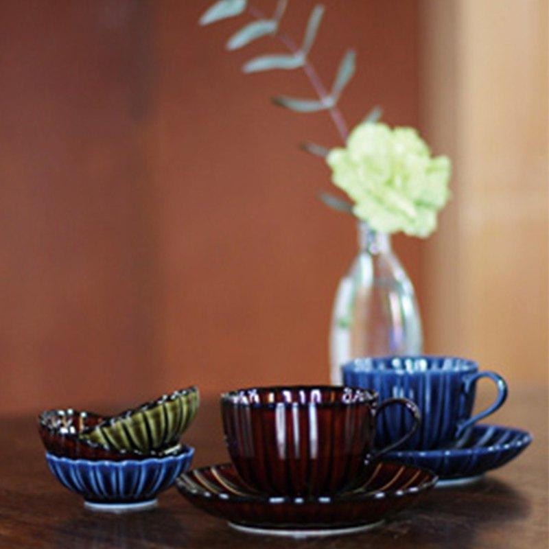 TOJIKI TONYA 美濃下石 咖啡杯 咖啡盤 小碟(三種顏色)分開選購