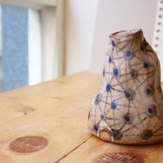 The third floor hand made pottery blue little flower