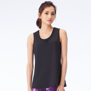 [MACACA] Sports Life 2in1 Tank - ASG1611 Black/Black