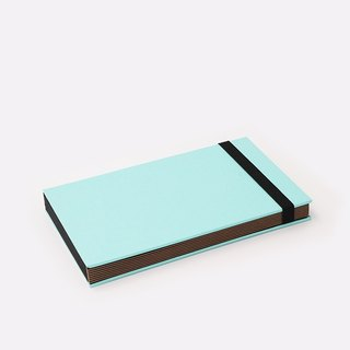Three summer light years classic solid color strap books section DIY album creative gifts small rectangular (sky blue)