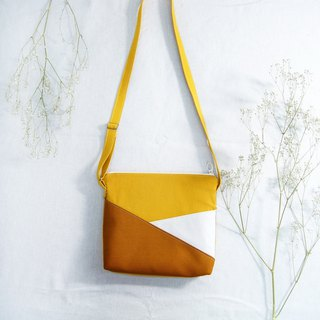 Early summer color matching shoulder back small yellow bag - mustard yellow