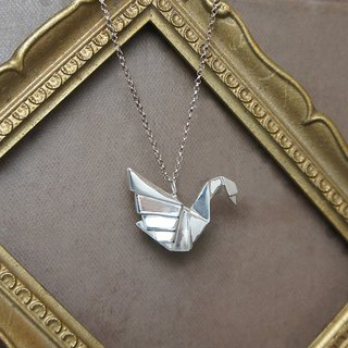GT Origami Swan Sterling Silver Necklace