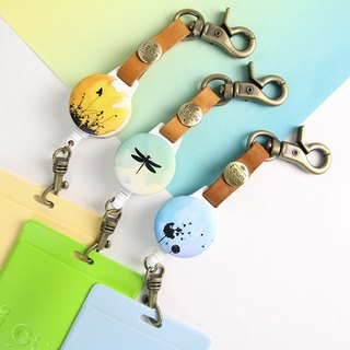 i good hook telescopic documents ticket clip render series - Pu British public & Sunset & Dragonfly (three) votes clip retractable pull ring leather travel card