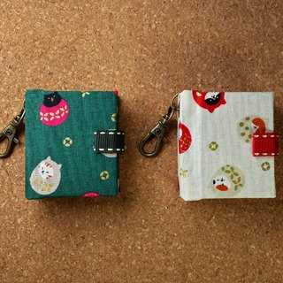 [Tumbler Dharma Cat] (2 colors) mini small phase key ring 5cmX4.3cm - custom small things