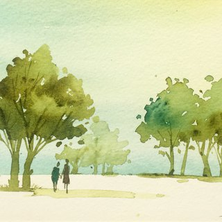 Wenqing Department of Forest Series g2- Watercolor hand-painted limited edition postcard / Wenqing Department