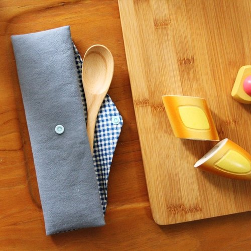 Green wind green chopsticks bag gray blue, pouch hand-made cutlery bags Japan cotton linen picnic storage