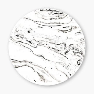 Snupped Ceramic Coaster - 6 feet under marble