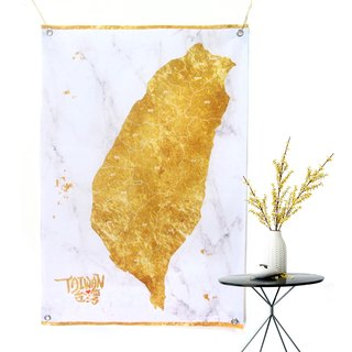 Taiwan map tarpaulin golden marble