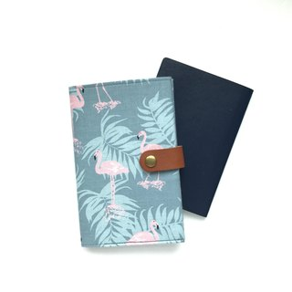 Passport Holder  Flamingo  Blue