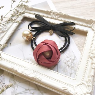 Romantic Rose Flower Hair Bulb / Hibiscus Red
