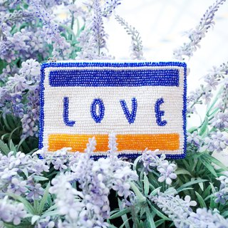 Handmade Love Holidays beads embroidery Coins bag