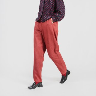 [Egg plant vintage] Showa story solid color vintage old pants