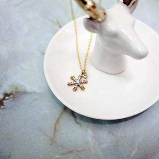 Happy Christmas snowflake necklace