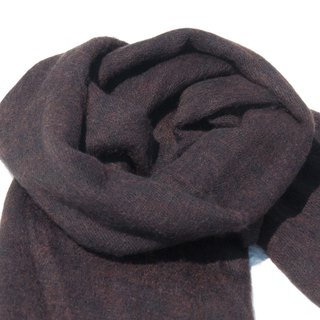 Pure wool shawl / knit scarf / knitted shawl / blanket / pure wool scarf / wool shawl - black coffee