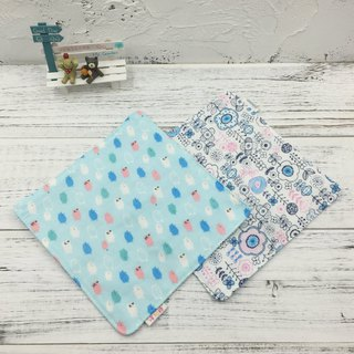 G12-soft soft gauze handkerchief (six-layer gauze) double-sided pattern pigs & Nordic line flowers