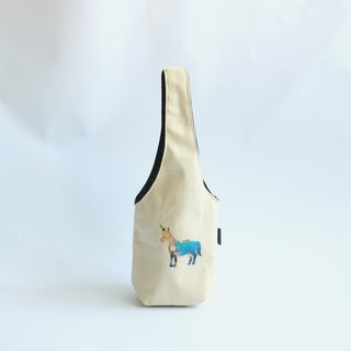 MaryWil double-sided green cup set of drinks bag - unicorn