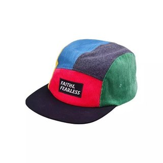 Faith & Fearless Cap_Five Panel - Fruit Punch