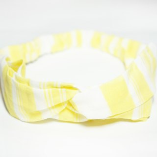Yellow rough lattice / hand loose hair band