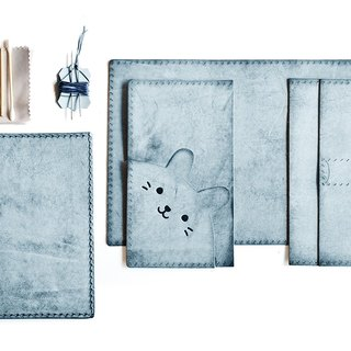 Fading Mist Leather DIY Kit Set - Rabbit Passport Holder