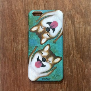 emmaAparty illustrator Mobile Shell: Rock Shiba Inu