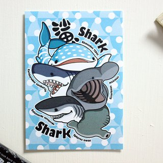 Tofu shark little spot whale shark postcard shark good friend
