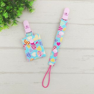 Fun love - 2 colors optional. 2 pieces - Ping Fu bag + pacifier chain