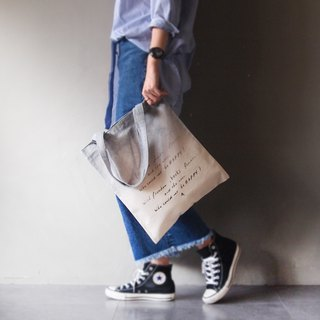 Three generations of new Tudor freedom.books.flowers light gray gradient short strap cotton canvas hand-printing handprint Tote bag